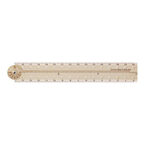 【MIDORI/ミドリ】マルチ定規 30cm (ペールベージュ)