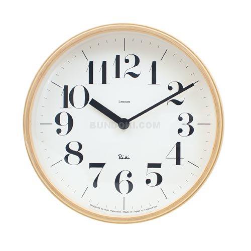 【Lemnos/レムノス】RIKI CLOCK (S size)/壁掛け時計