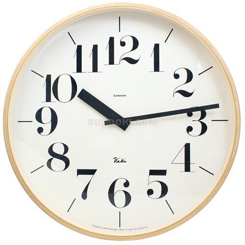【Lemnos/レムノス】RIKI CLOCK (L size)/壁掛け時計