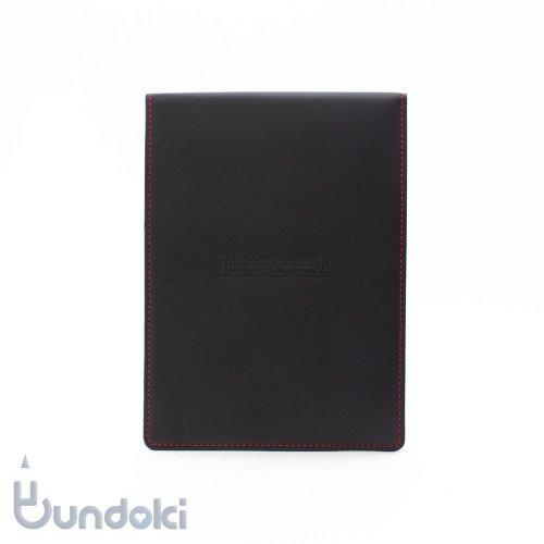 【Thinking Power Notebook】バック・トゥー(縦開きA6サイズ革製カバー)