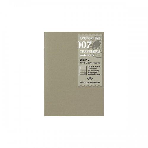 【MIDORI/ミドリ】トラベラーズノートパスポートサイズ リフィル 週間フリー/007