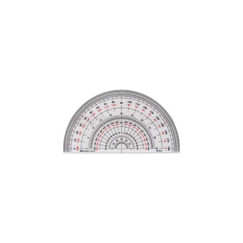 【FABER-CASTELL/ファーバーカステル】半円分度器/12cm
