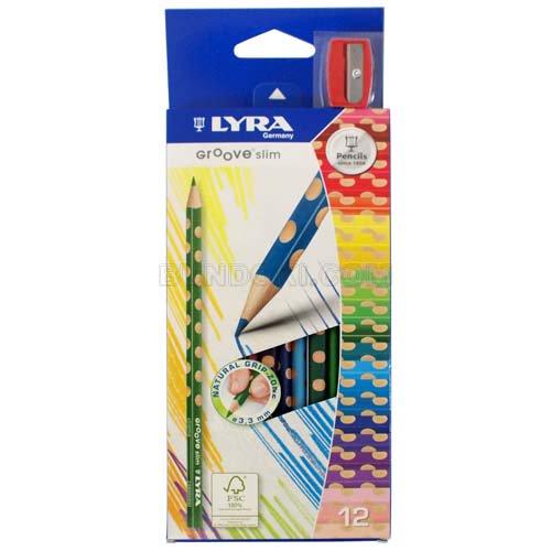 【LYRA/リラ】GROOVE slim 色鉛筆(12色入り)