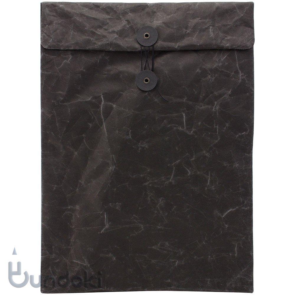 【SIWA・紙和】ひも付き封筒(ブラック)