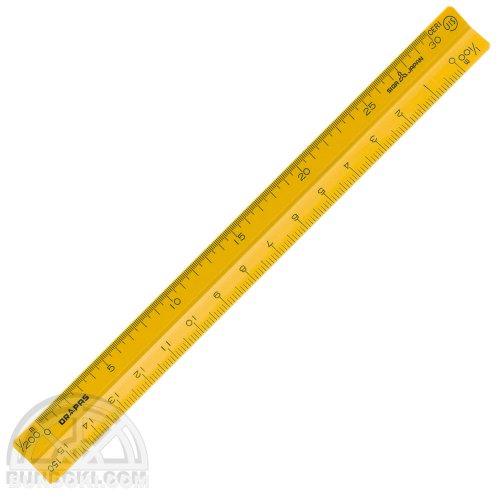 【DRAPAS/ドラパス】カラー三角スケール15cm・ポケット用(黄)