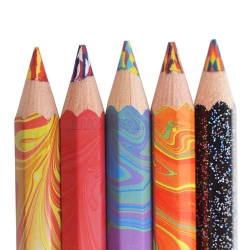 マーブル色鉛筆