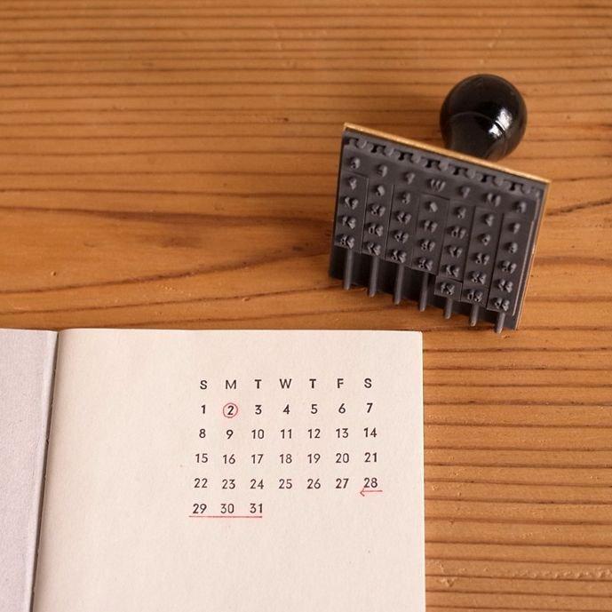 【水縞/mizushima】ハンコ 万年カレンダー