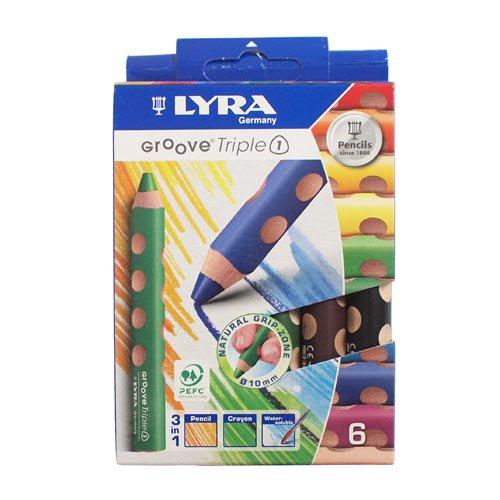 【LYRA/リラ】GROOVE Triple 1 /トリプルワン色鉛筆(6色入り)