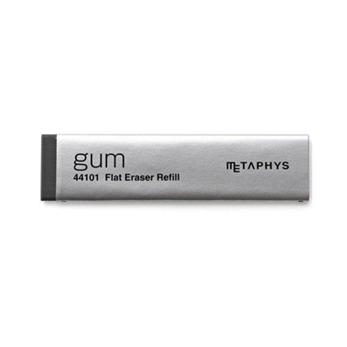 【METAPHYS/メタフィス】gum Flat Eraser Refill/薄型消しゴム用リフィル(ブラック)
