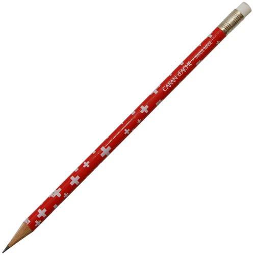 【CARAN D'ACHE/カランダッシュ】スイスフラッグ 消しゴム付き鉛筆