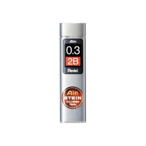【Pentel/ぺんてる】Ain替え芯 STEIN/アインシュタイン(0.3mm/2B)