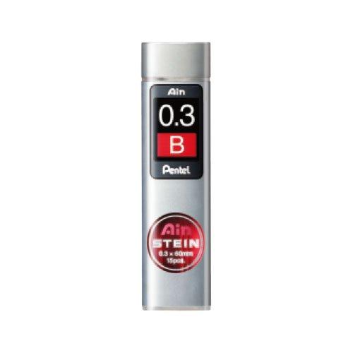 【Pentel/ぺんてる】Ain替え芯 STEIN/アインシュタイン(0.3mm/B)