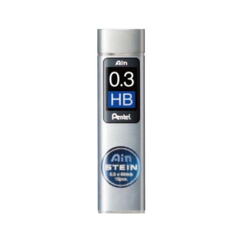 【Pentel/ぺんてる】Ain替え芯 STEIN/アインシュタイン(0.3mm/HB)