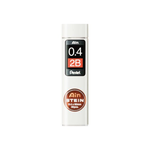 【Pentel/ぺんてる】Ain替え芯 STEIN/アインシュタイン(0.4mm/2B)