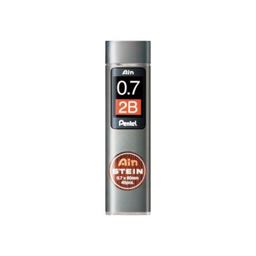 【Pentel/ぺんてる】Ain替え芯 STEIN/アインシュタイン(0.7mm/2B)