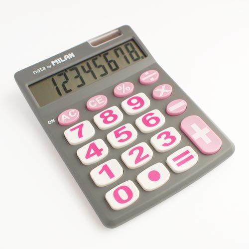 【MILAN/ミラン】デカボタンソーラー電卓(ピンク)151708GBL