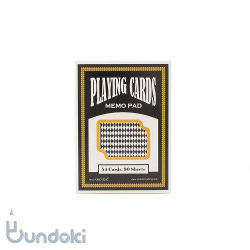 【大西賢製版】Playing Cards Memo Pad/トランプメモパッド(ブラック)