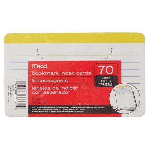 【mead/ミード】bookmark index cards/3×5ブックマークカード