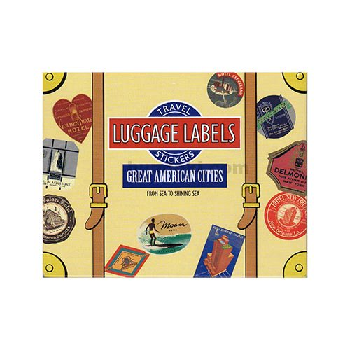 LUGGAGE LABELS(GREAT AMERICAN CITIES)