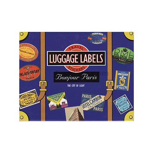 LUGGAGE LABELS(BONJOUR PARIS)