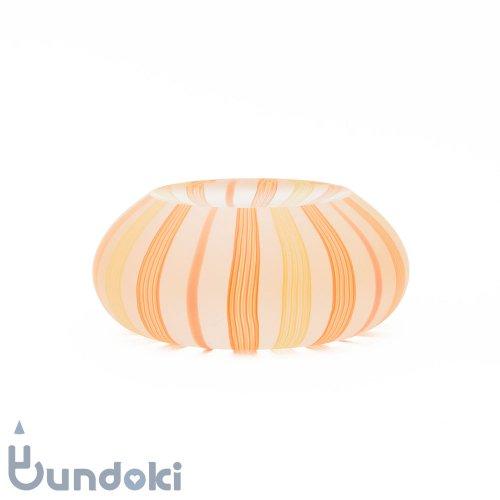 【高梨良子】縞シリーズ・ペーパーウェイト しずく(オレンジ)