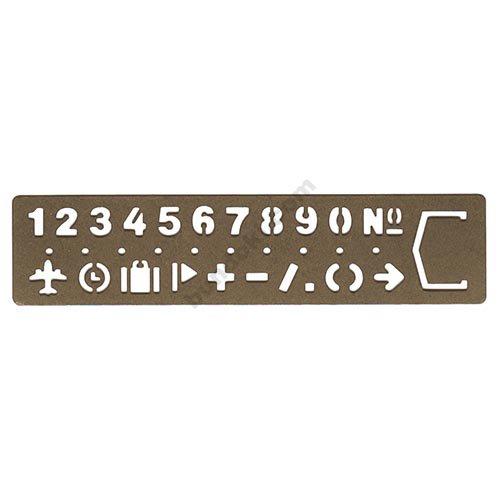 【MIDORI/ミドリ】BRASS PRODUCT/テンプレート ブックマーク/ナンバー