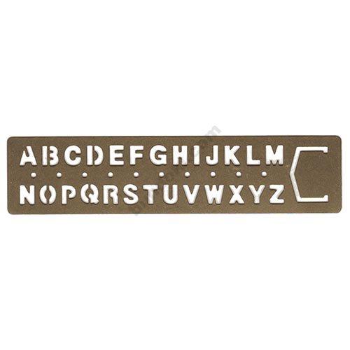 【MIDORI/ミドリ】BRASS PRODUCT/テンプレート ブックマーク/アルファベット