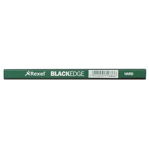 【DERWENT/ダーウェント】Rexel BLACK EDGE・ハード(緑軸)