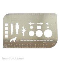【knoxbrain】カードサイズスタイル/多機能定規(テンプレート付)