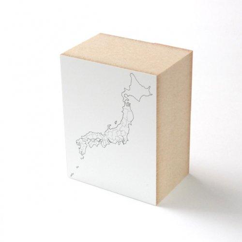 【水縞/mizushima】ハンコ 日本白地図