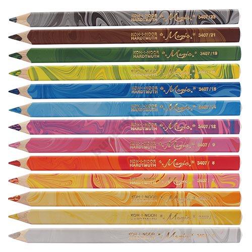 【KOH-I-NOOR/コヒノール】MAGICマーブル色鉛筆12色+1セット