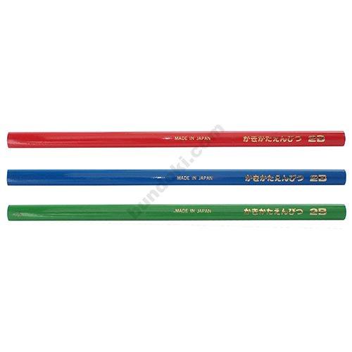 【アイボール鉛筆/JANOME】低学年用・角丸・短め・三角かきかた鉛筆 2B