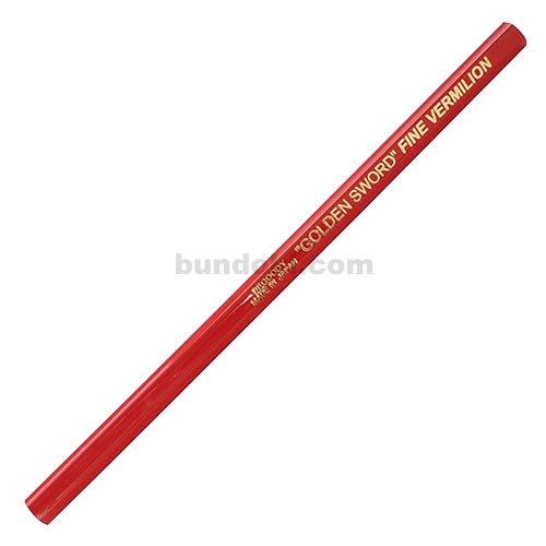 【アイボール鉛筆/JANOME】低学年用・角丸・短め・六角あか芯(赤鉛筆)