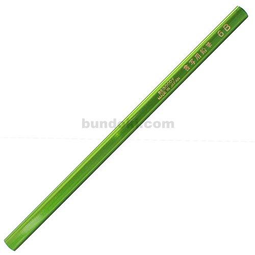 【アイボール鉛筆/JANOME】低学年用・角丸・短め・三角書写用鉛筆 6B