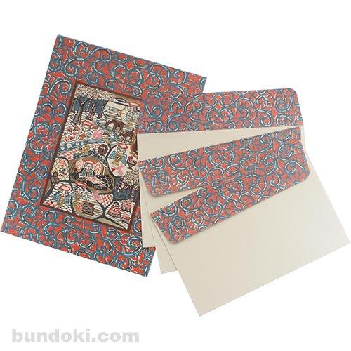 【倉敷意匠】こけし封筒3枚+便箋6枚セット B