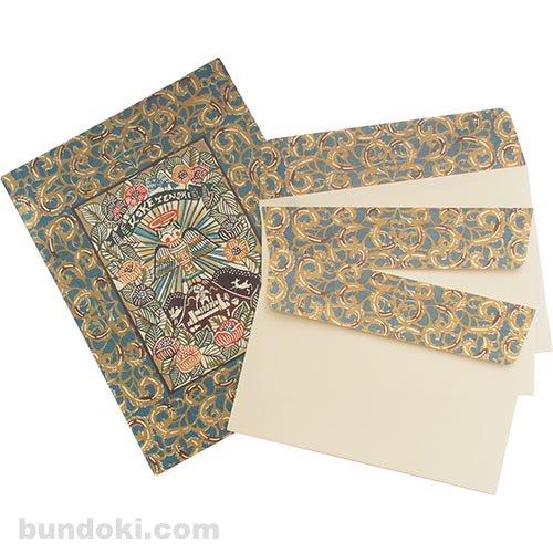 【倉敷意匠】こけし封筒3枚+便箋6枚セット C