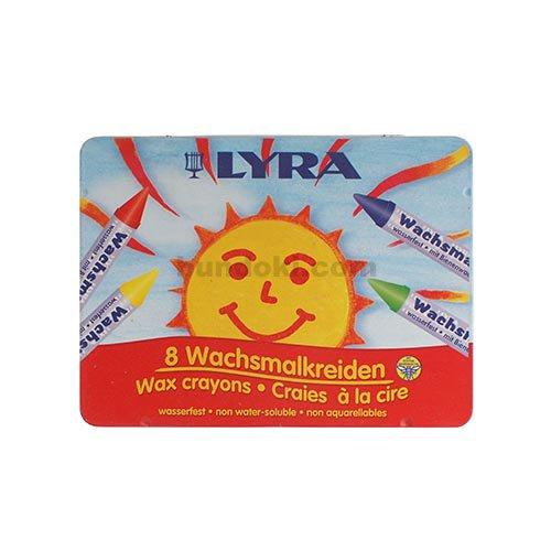 【LYRA/リラ】Wachsmalkreiden/缶入りクレヨン8色入り・865M08