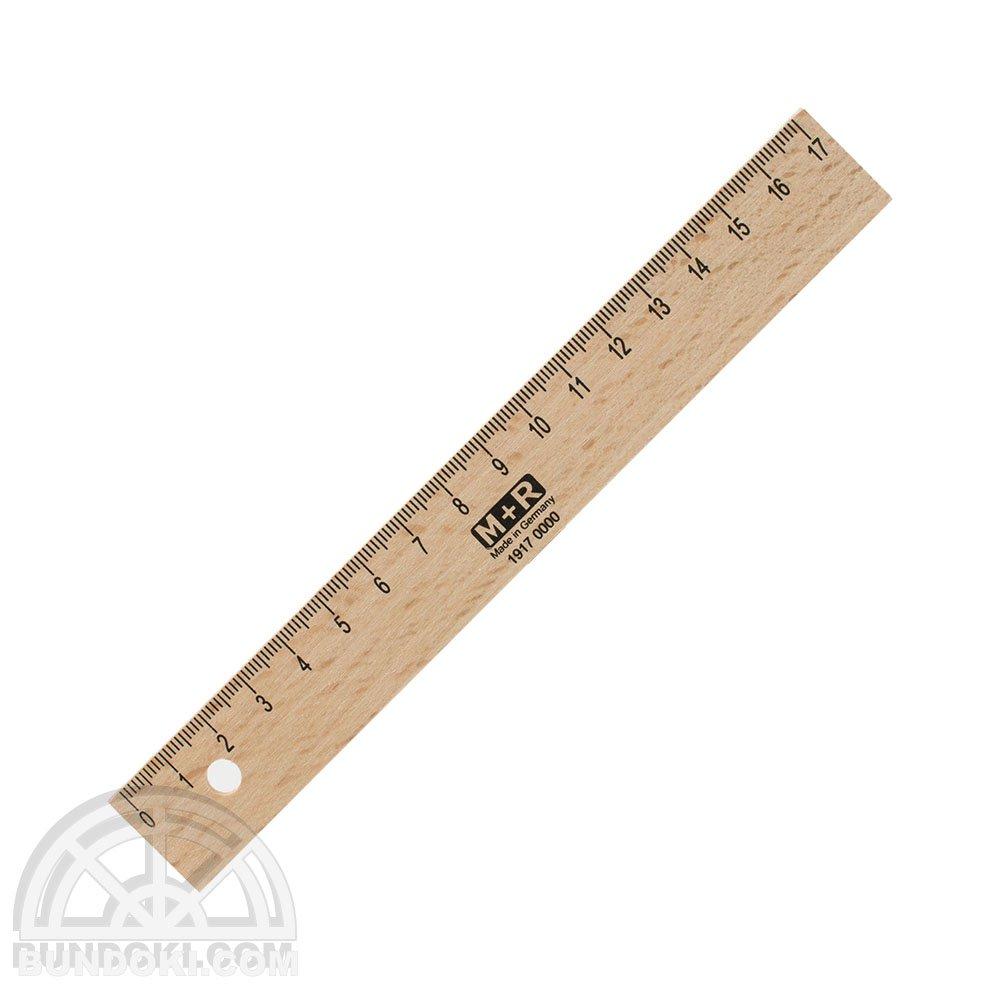 【M+R/Mobius+Ruppert】木製17センチ定規/1917