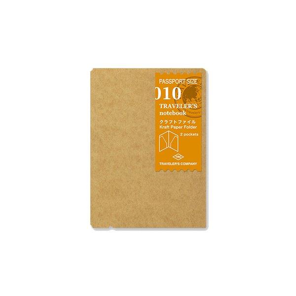【MIDORI/ミドリ】トラベラーズノート パスポートサイズ リフィル クラフトファイル/010
