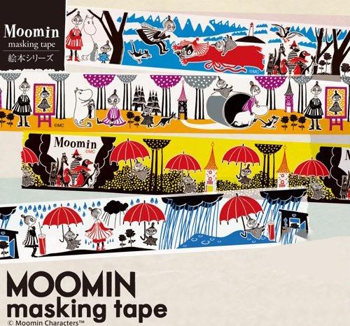 【有限会社くま/KUMA】ムーミンマスキングテープ・絵本シリーズ