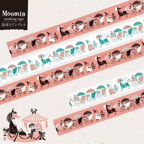 【有限会社くま/KUMA】ムーミンマスキングテープ・馬車とアンブレラ