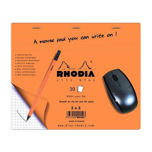 【Rhodia/ロディア】マウスパッド型5ミリグリッドメモ/CLIC BLOC