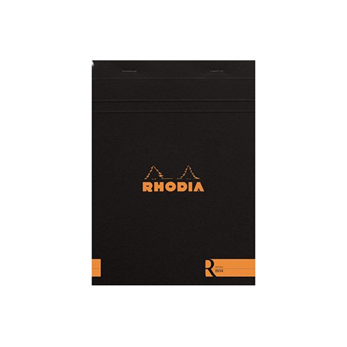 【Rhodia/ロディア】ブロックロディア R/No.16・横罫(ブラック)