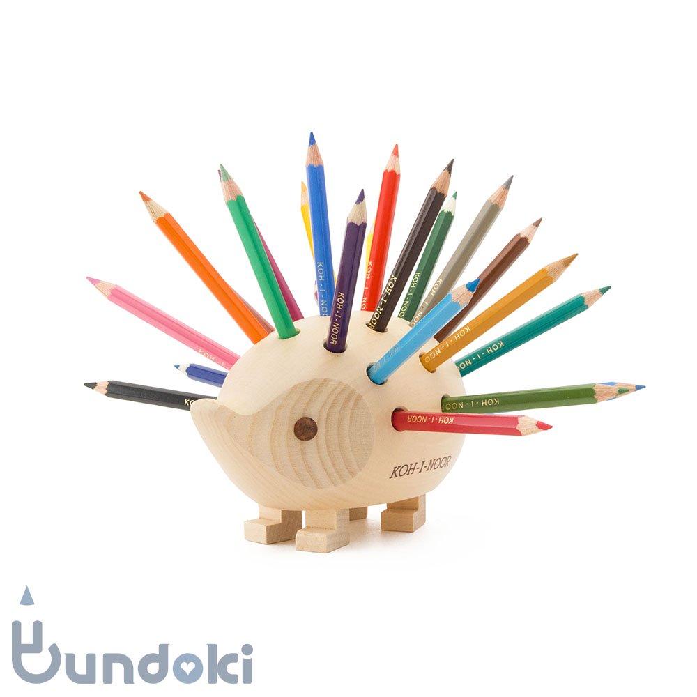 【KOH-I-NOOR/コヒノール】ハリネズミ型色鉛筆スタンド(ナチュラル)9960-001