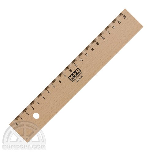 【M+R/Mobius+Ruppert】木製20センチ定規/1920