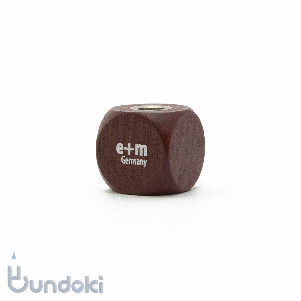 【e+m/イープラスエム】CUBE 5.5mm芯研器(マホガニー)