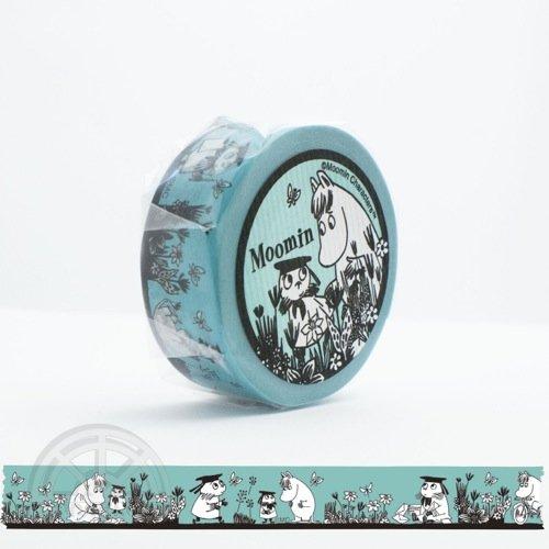 【有限会社くま/KUMA】ムーミンマスキングテープ・野原の2人(クリップダッスとスノークの女の子)