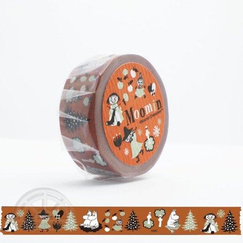 【有限会社くま/KUMA】ムーミンマスキングテープ・ムーミン谷の仲間たちシリーズ(レンガ)
