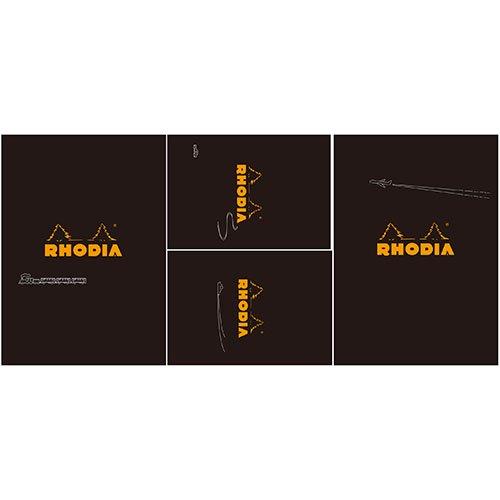 【Rhodia/ロディア】THE bloc memo, Travel with RHODIA・ブラック【限定品】