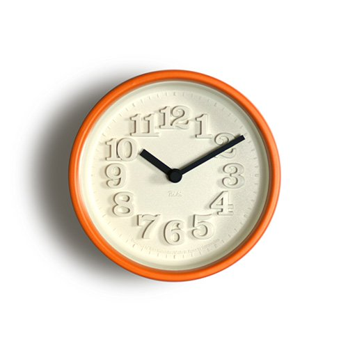 【Lemnos/レムノス】小さな時計(オレンジ)